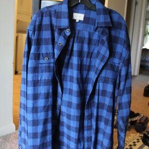 Never Worn Jachs Men's Blue Flannel